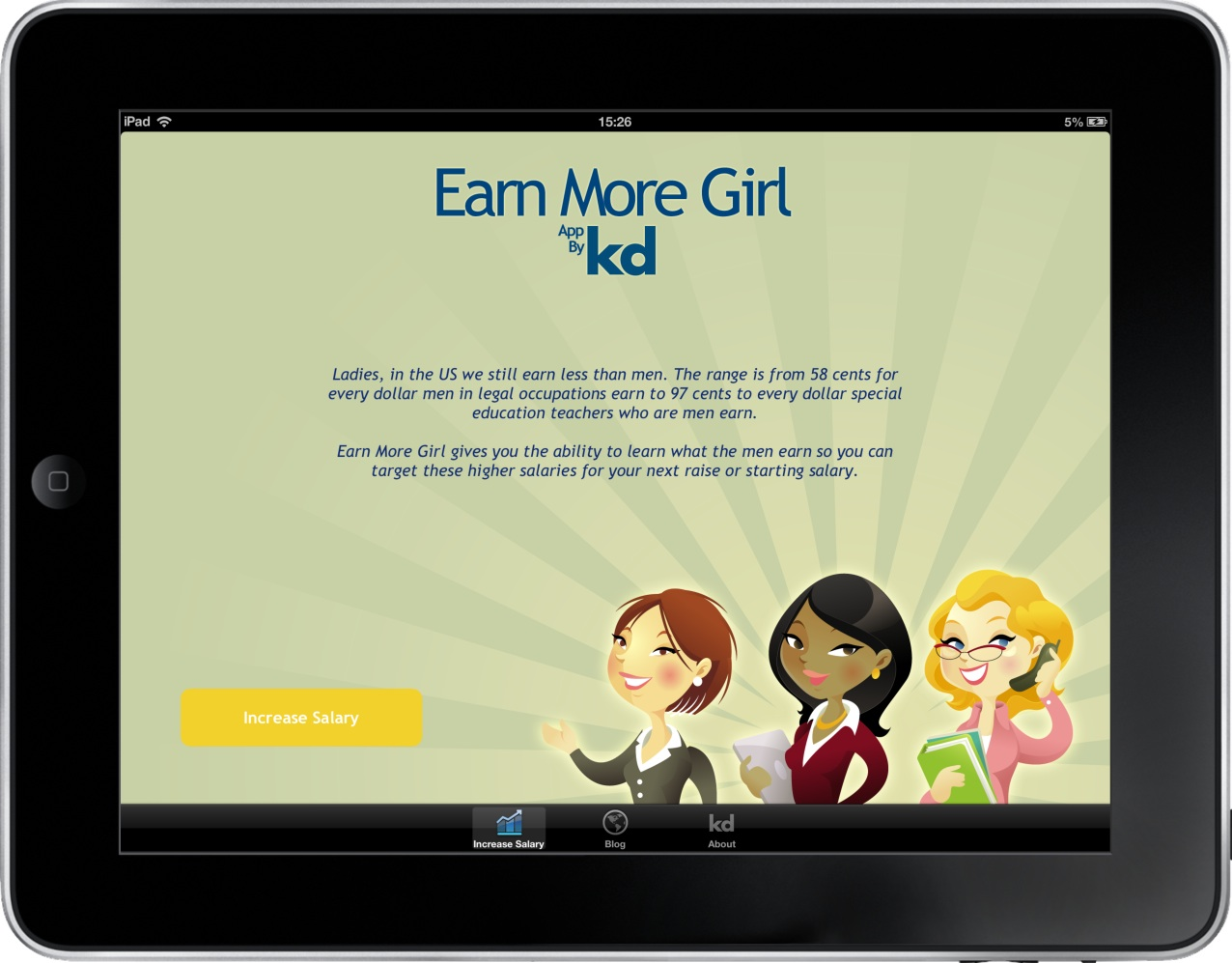 Earn More Girl iPad Website Images